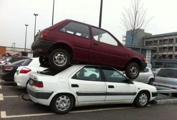 Situation du parking en pâques